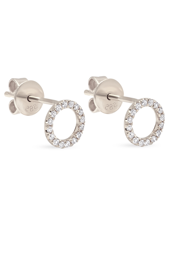 Switch - Diamond Circle Studs (18k White Gold)
