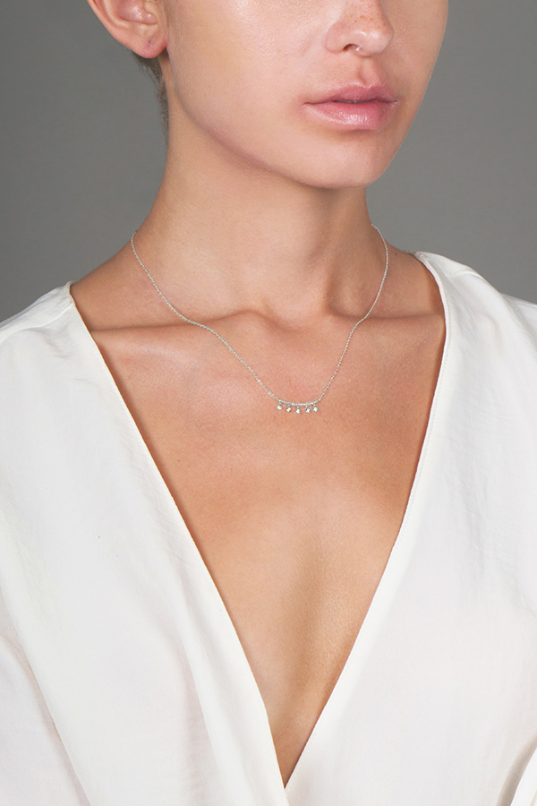 Do Not Disturb - The Greenville Necklace (14k White Gold and Diamonds)
