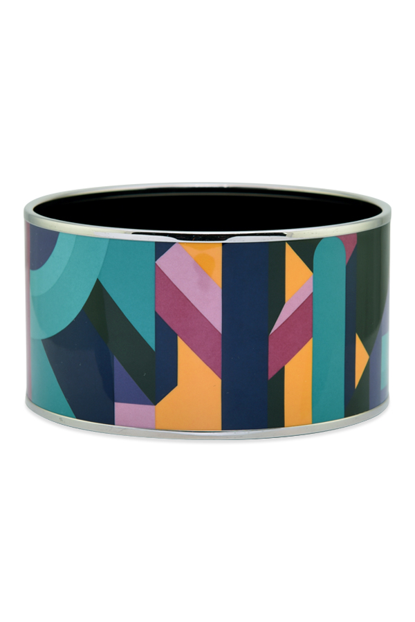 Hermes Extra Wide Enamel Bangle Perspective Cavaliere