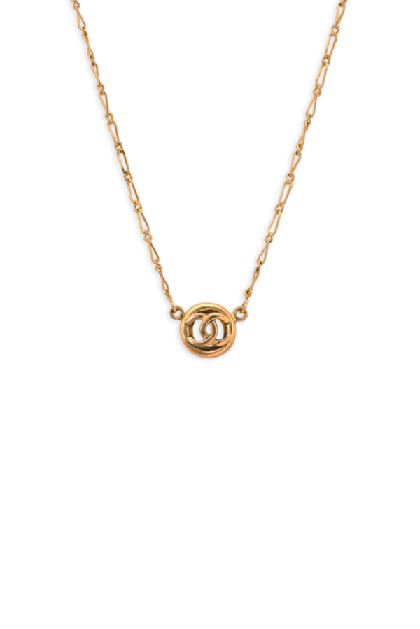 Chanel - Circled CC Logo Pendant Necklace View 1