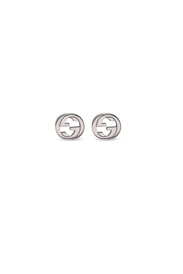 Gucci - Silver Interlocking G Earrings View 1