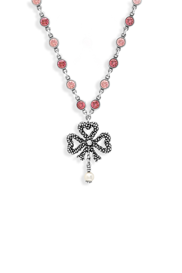 Gucci - Pink and Silver Bow Necklace