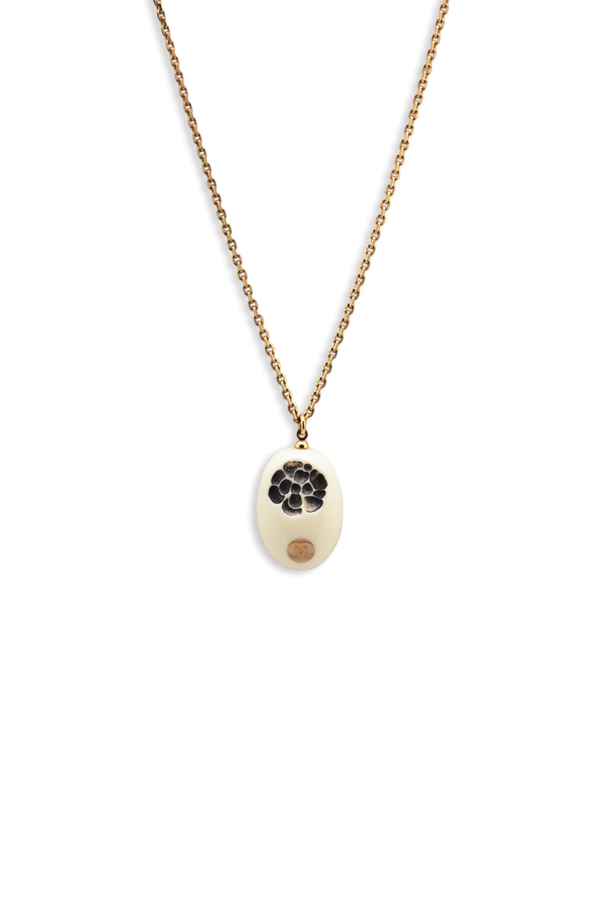 Chanel - White Resin Camellia Necklace
