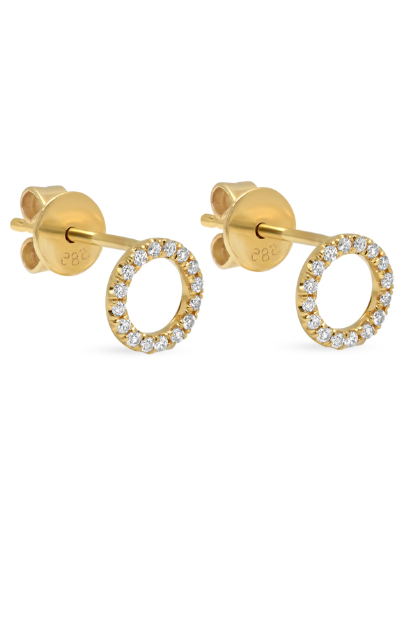 Switch - Diamond Circle Studs  18k Yellow Gold  View 2