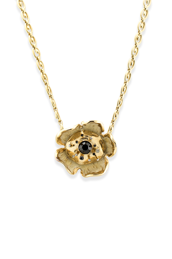 Chloe - Crystal Flower Pendant Necklace