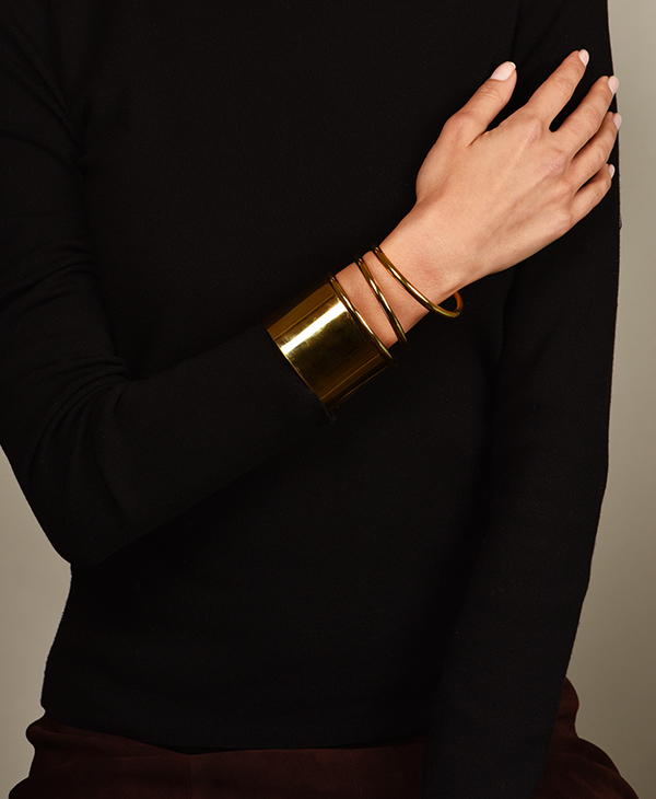 Balenciaga - Gold Twisted Cuff Bracelet   Small View 3