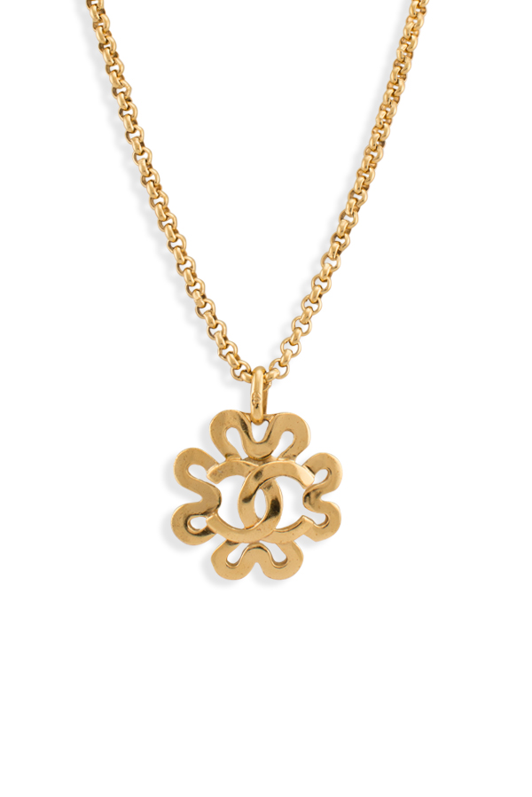 Chanel - CC Logo Pendant in Clover Cutout Necklace View 1