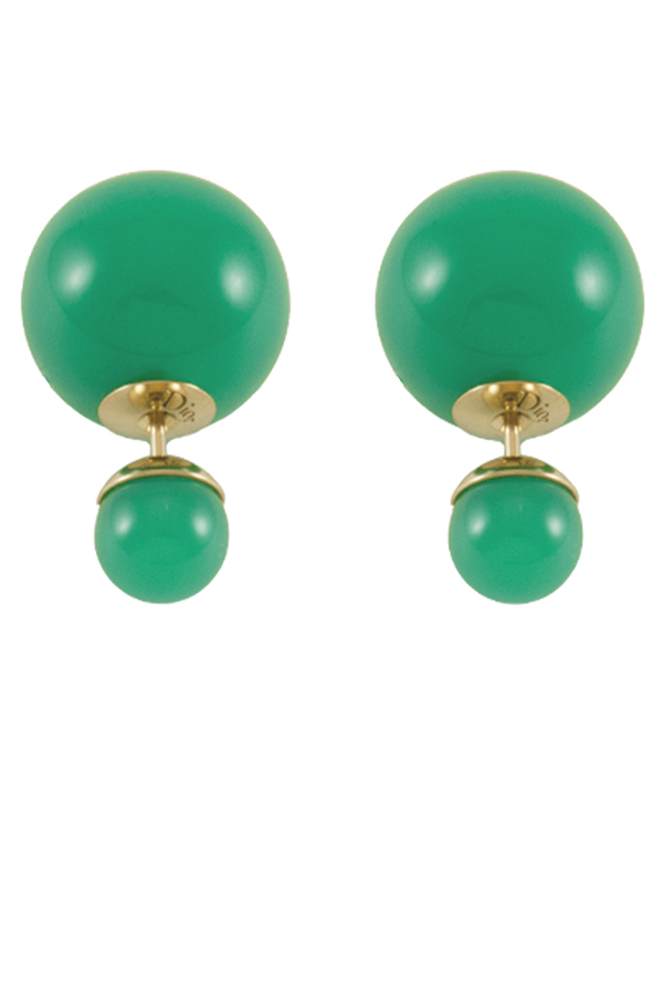 Christian Dior - Green Tribale Earrings