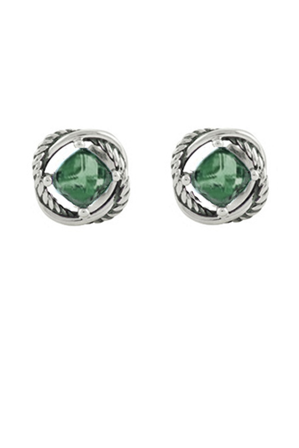 David Yurman - Infinity Stud Earrings (Prasiolite)