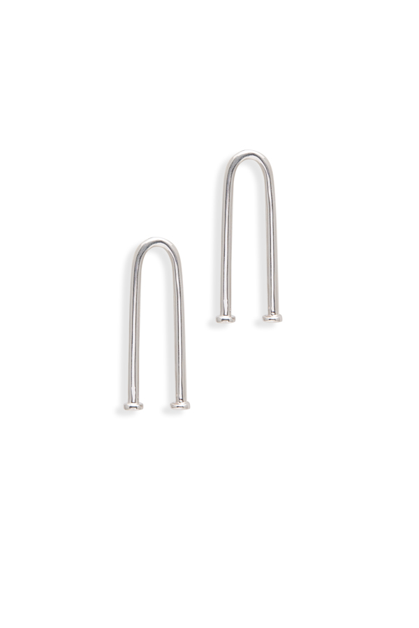Jennifer Fisher - White Gold-plated Bent Pipe Earrings