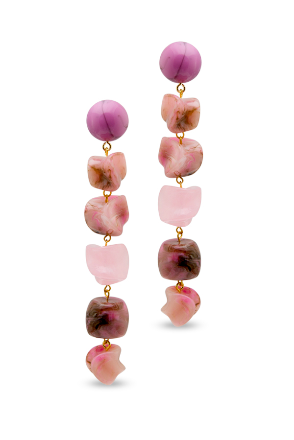 Cult Gaia - Leo Earrings   Pink Multi View 1
