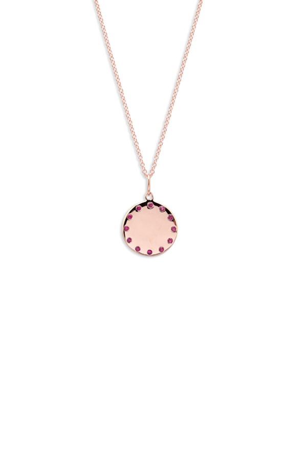 Do Not Disturb - The Paris Necklace (14k Rose Gold and Rubies)