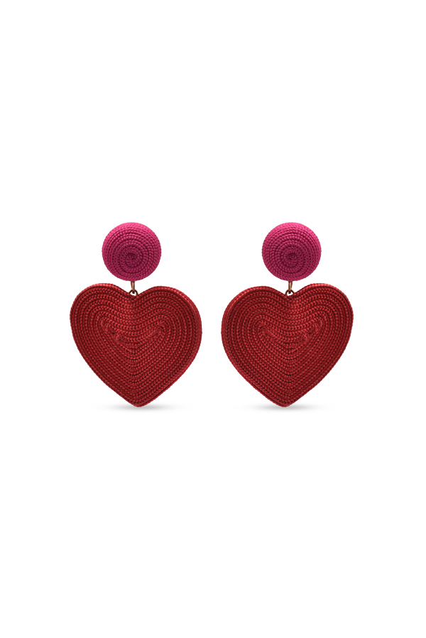 Rebecca De Ravenel - Cora Earrings (Red and Pink)