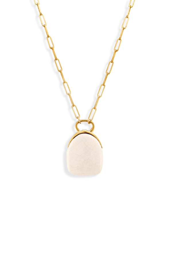 Isabel Marant - Gold Tone Ceramic Necklace View 2
