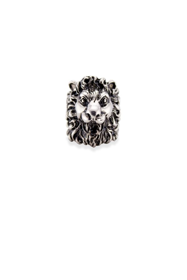 Gucci - Lion Head Ring  Silver    Size 6 5 View 1