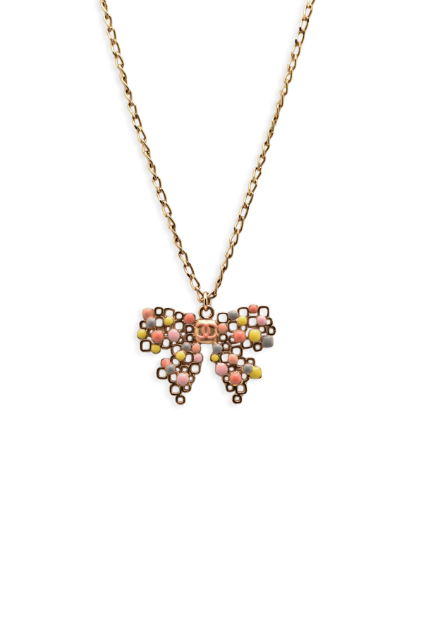 Chanel - Multi Color Bow Necklace