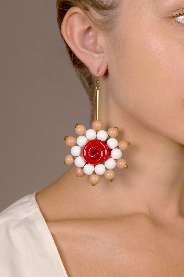 Marni - 1360187498_MarniBeaded Flower Drop Earrings jpg