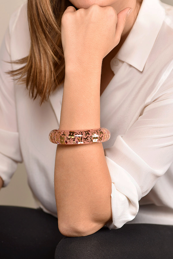Louis Vuitton - Wide Inclusion Bangle (Light Pink/Gold)
