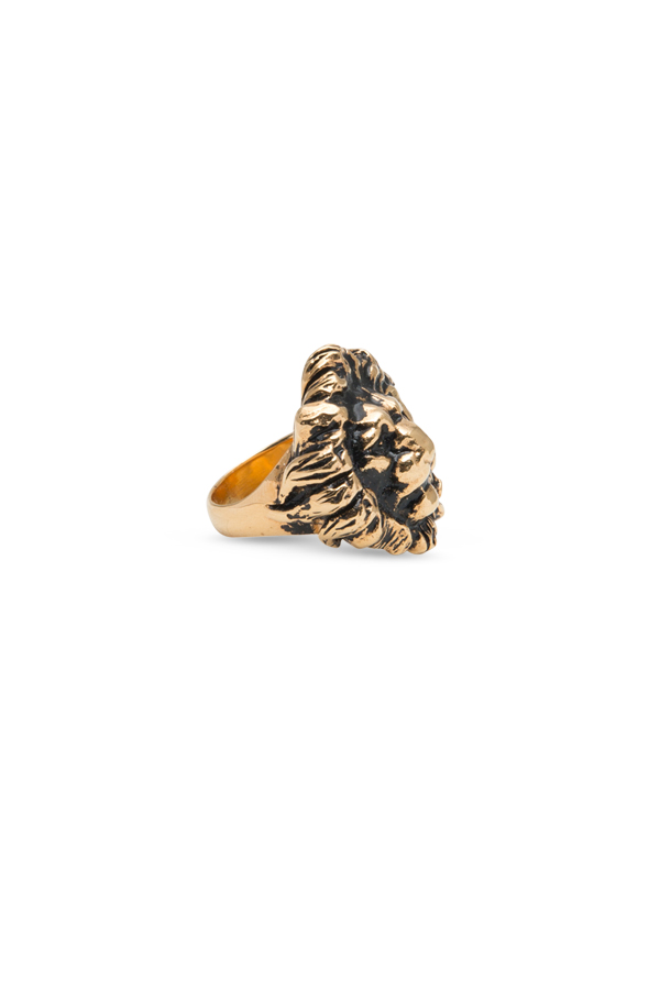 Yves Saint Laurent - Gold-tone Brass Lion Ring - Size 6
