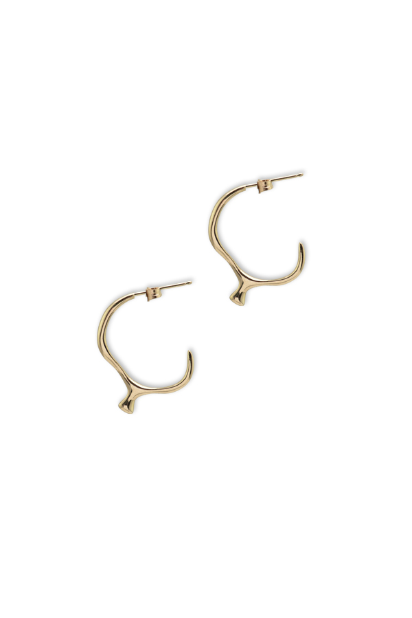 Rebecca Pinto - Digue Hoop Earrings  14k Yellow Gold  View 1