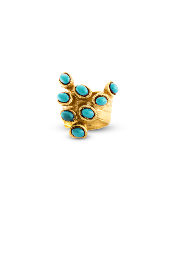 Yves Saint Laurent - Arty Dots Ring  Turquoise    Size 7 5 View 1