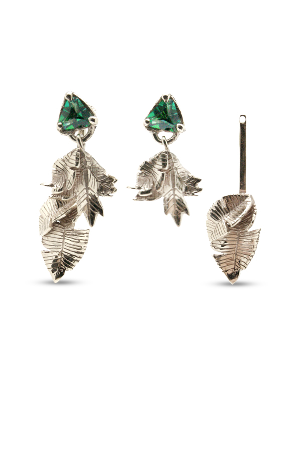 Coline Assade - Detachable Leaves Earrings View 1