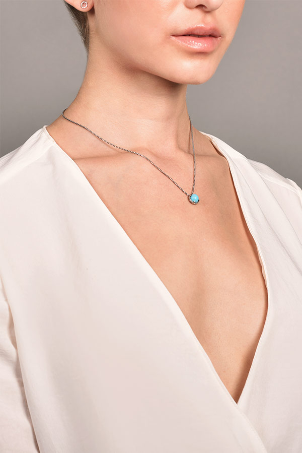 David Yurman - Chatelaine Necklace (Turquoise) View 2