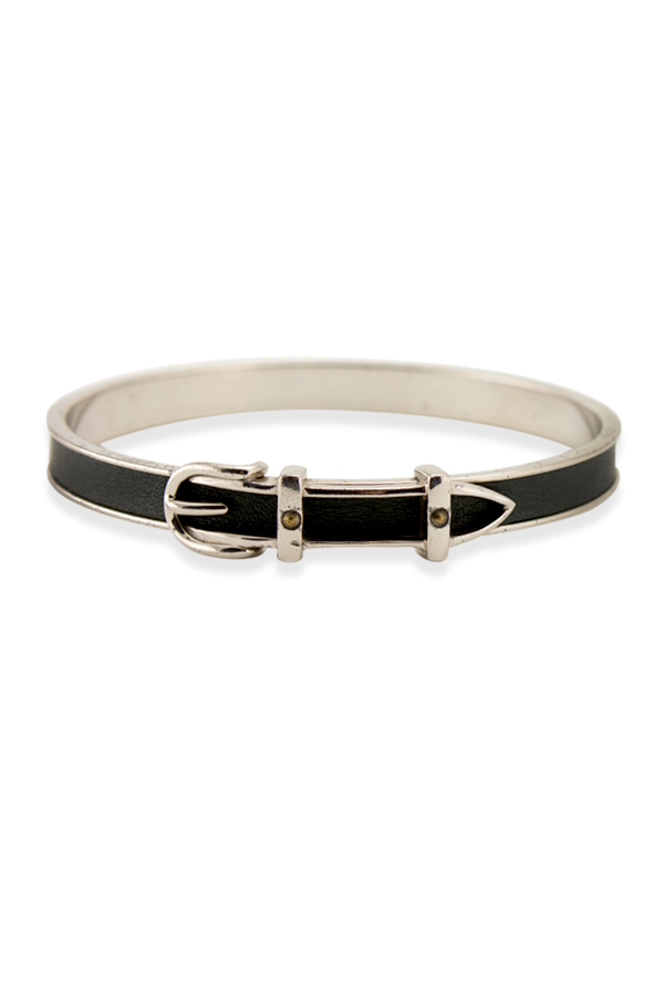 Hermes - Belt Motif Bracelet  Black  View 1