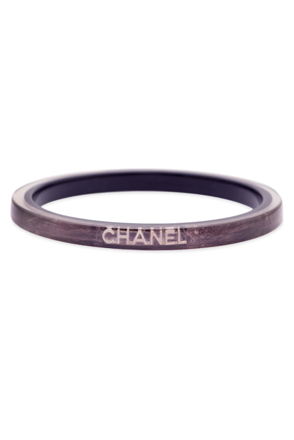Chanel - Metallic Resin Logo Bangle (Purple)