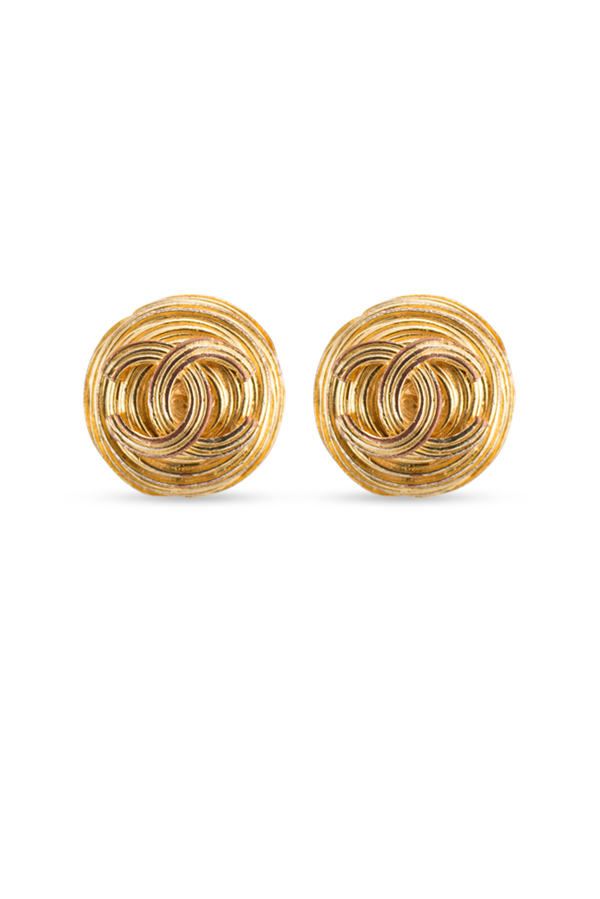 Chanel - Large CC Weave Clip-On Earrings
