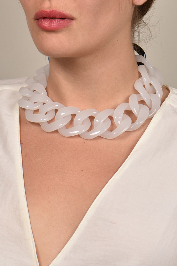 Angela Caputi - White Resin Necklace