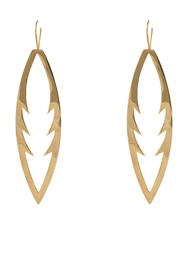 in lyst earrings white jennifer fisher open jewelry drop gold