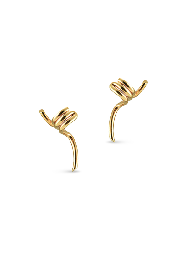 Celine - Barbele Ear Cuff Earrings (Rose Gold-Tone)