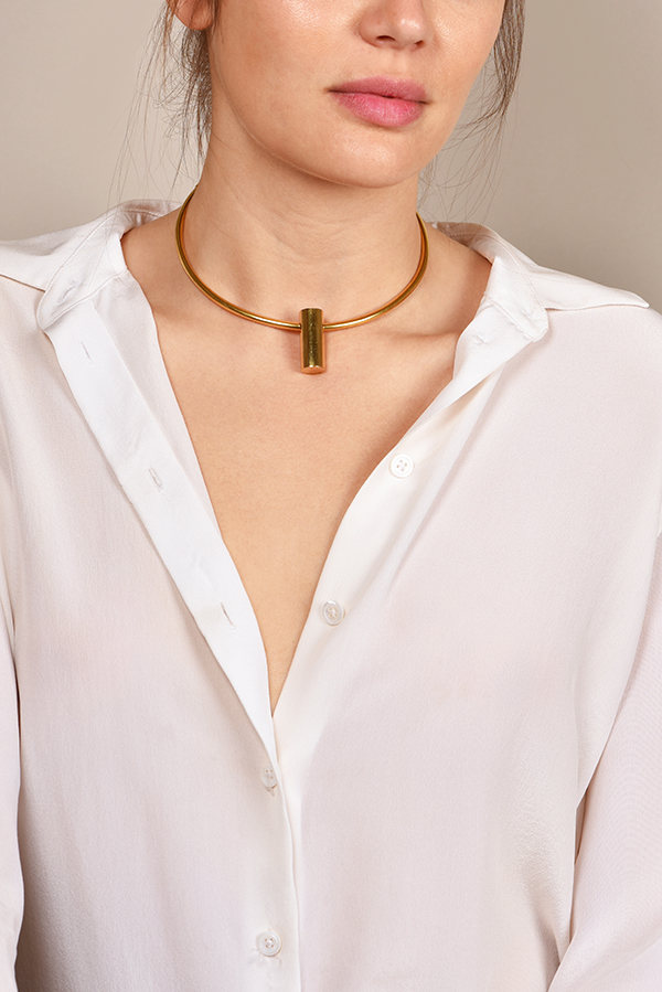 Celine - Gold Geometric Necklace