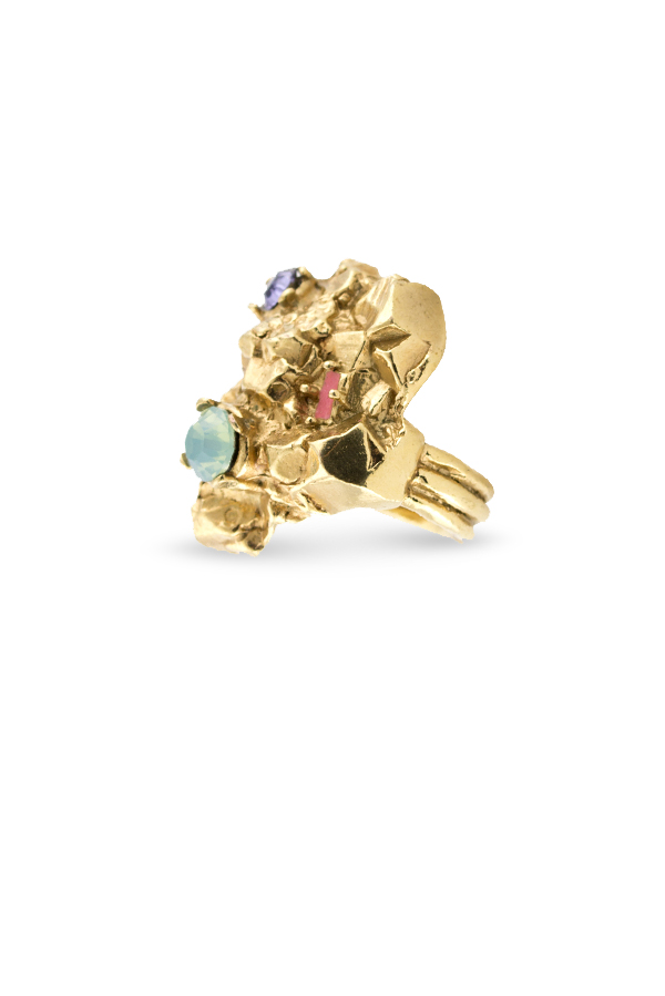Yves Saint Laurent - 1440224574_Switch Jewelry YSL Yves Saint Laurent Arty Too Ring  Multi Stone  2 jpg