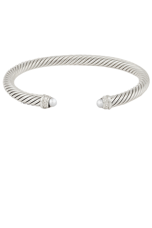 David Yurman - 5mm Cable Bracelet  Pearl  View 1