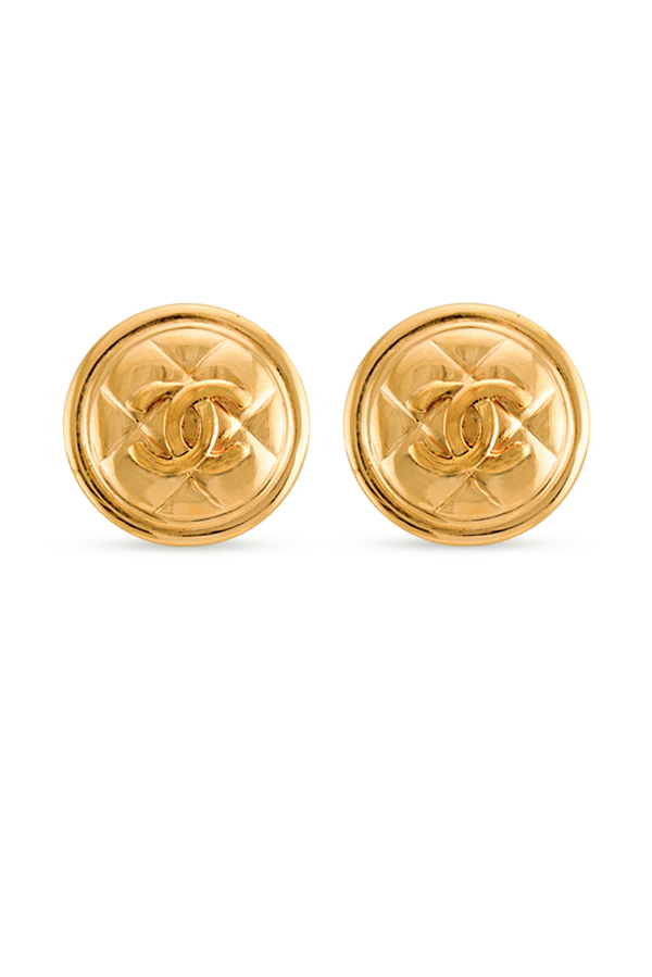 Chanel - Quilted CC Earrings