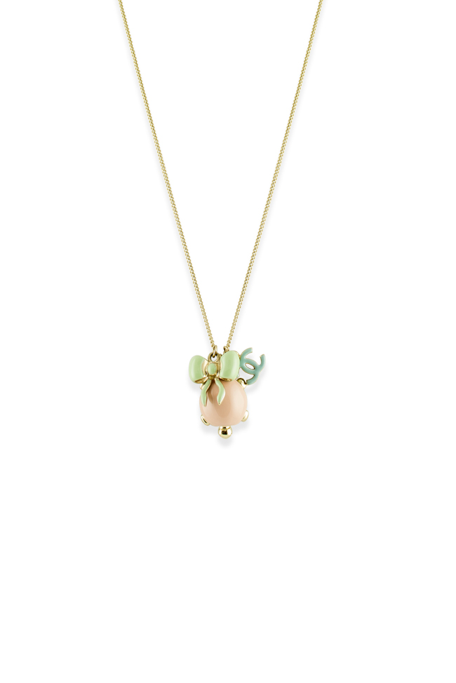 Chanel - Turtle With Bow And CC Logo Charm Pendants Necklace