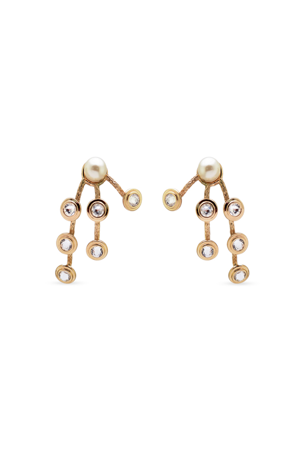 Christian Dior - Faux Pearl and Crystal Earrings