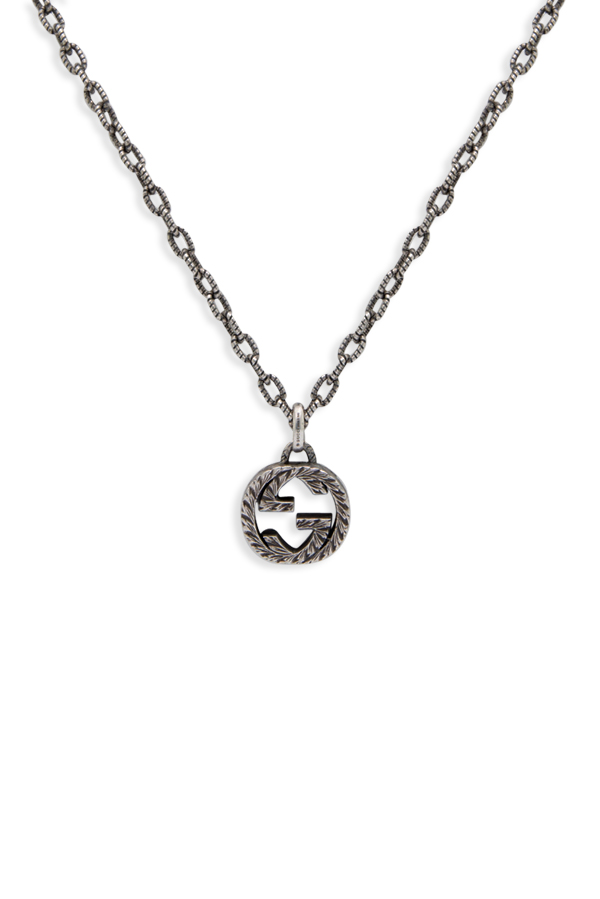 Gucci - Interlocking G Pendant Necklace (Textured)