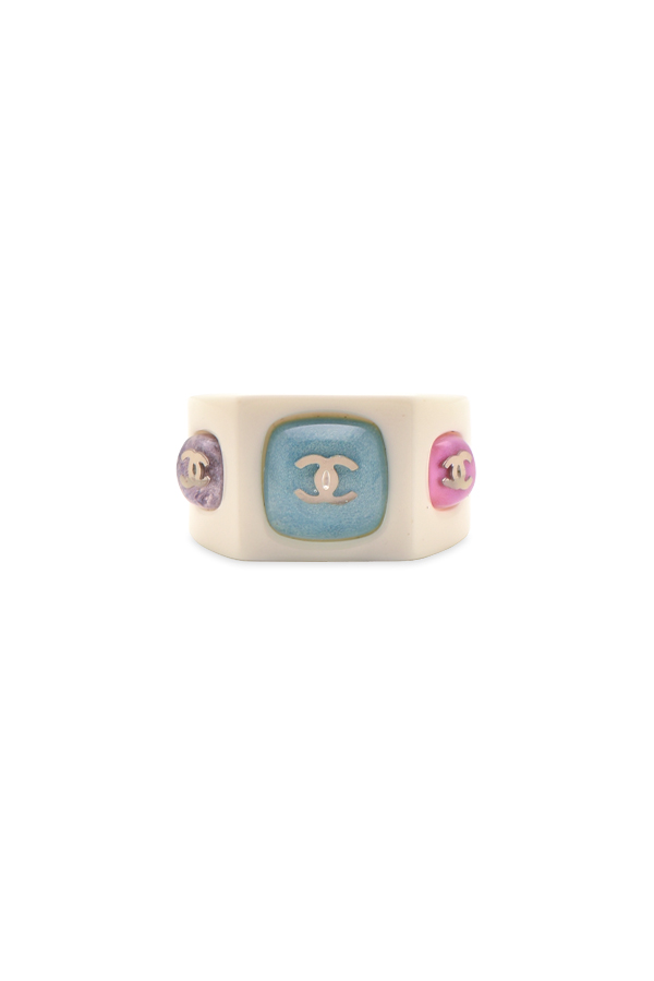 Chanel - CC Resin Band Ring   Size 6 5 View 1