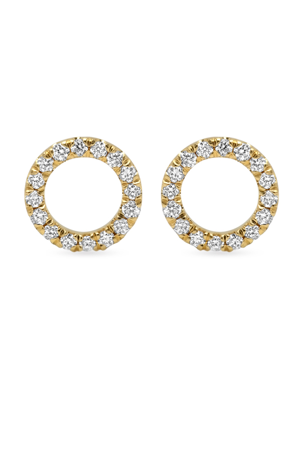 Switch - Diamond Circle Studs  18k Yellow Gold  View 1