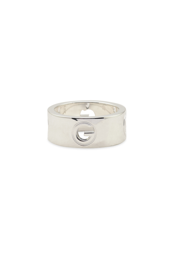 Gucci - Silver G Logo Ring - Size 6