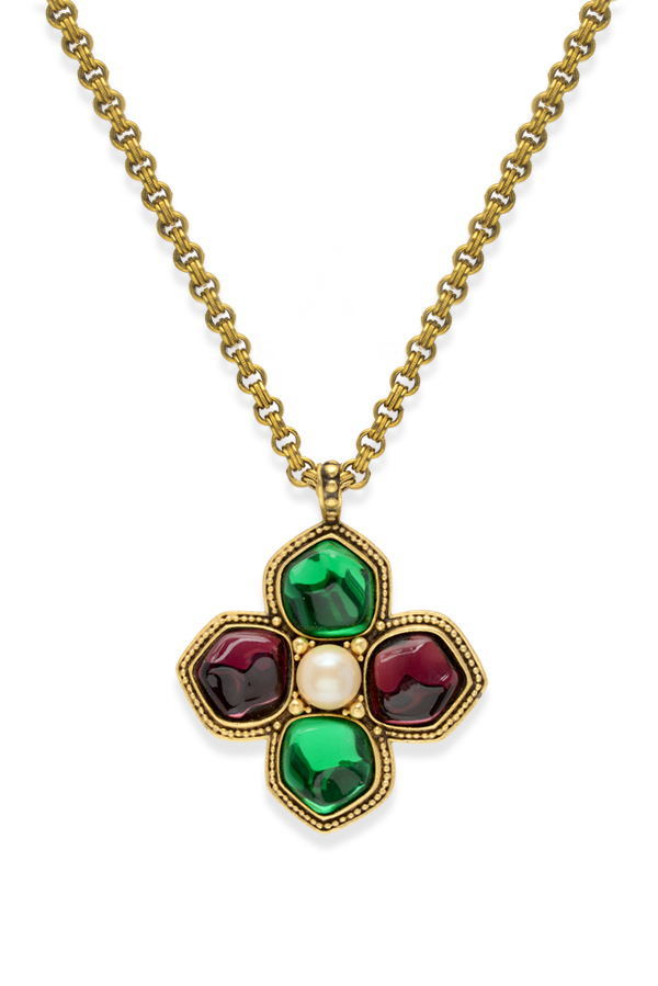 Yves Saint Laurent - 1529839593_Switch Jewelry YSL Yves Saint Laurent Multicolor Flower Pendant Necklace jpg