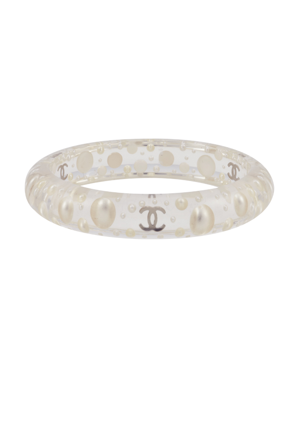 Chanel - Translucent Resin And Faux Pearl Bangle