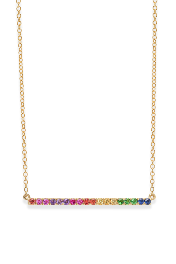 Do Not Disturb - The Amalfi Rainbow Necklace (14k Yellow Gold)