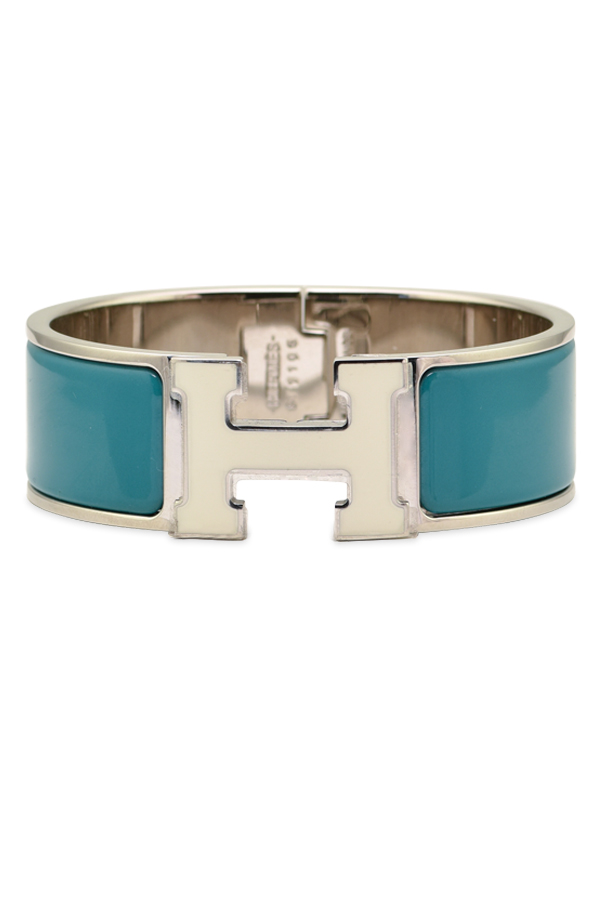 Hermes - Wide Clic Clac H Bracelet (Teal/Yellow Gold Plated) - PM