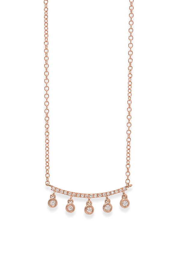 Do Not Disturb - The Greenville Necklace  14k Rose Gold and Diamonds  View 1