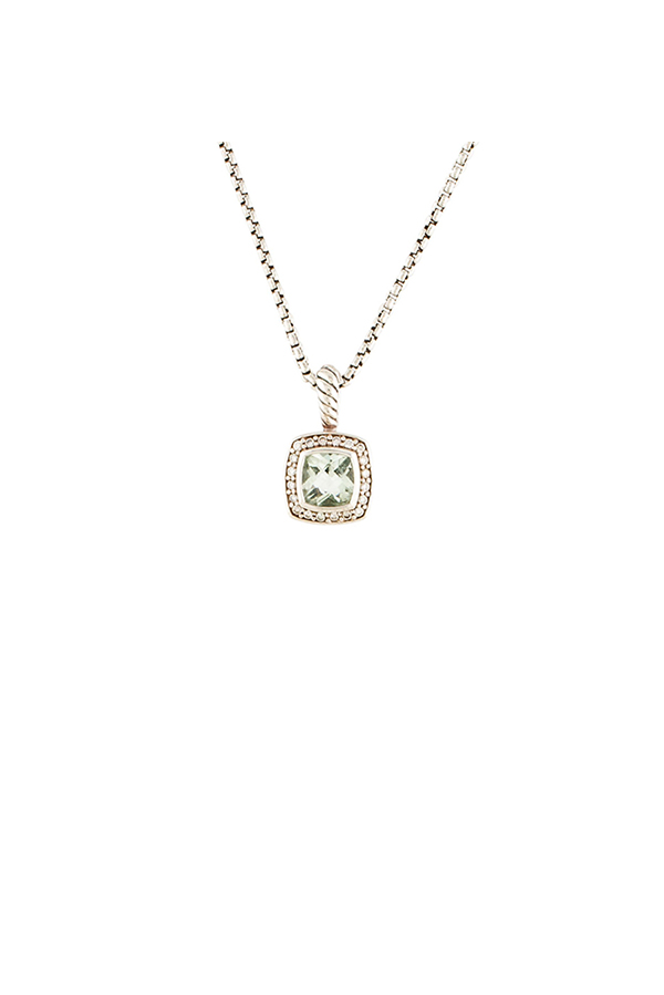 David Yurman - Petite Albion Pendant Necklace (Prasiolite)
