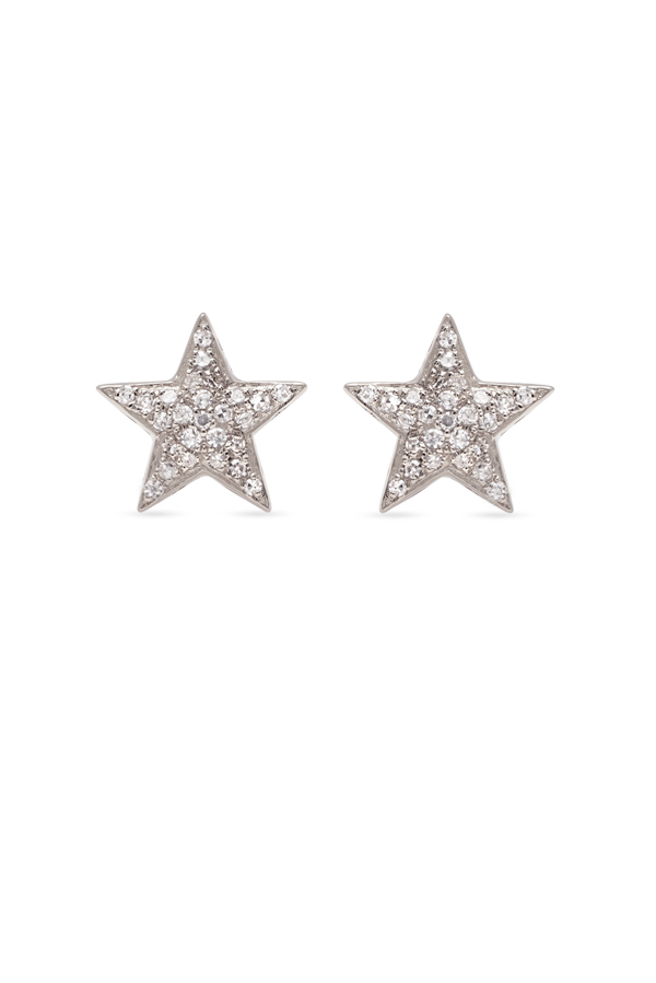 Do Not Disturb - The Sahara Studs  (14k White Gold and Diamonds)
